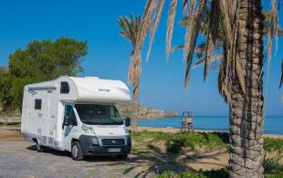 campervan exterior 6 people rental crete