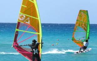 windsurf in south crete